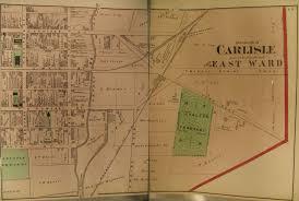 Map Of Penn Station Cumberland County 1872 Atlas Warrantee Maps