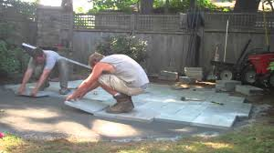 Patio Flagstone Prices How To Build A Bluestone Patio Part Two Youtube