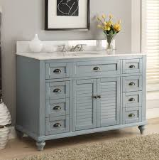 Bathromm Vanities Adelina 49 Inch Antique Bathroom Vanity Blue Finish