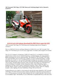 calaméo 1987 kawasaki 750r ninja gpx750r motorcycle workshop