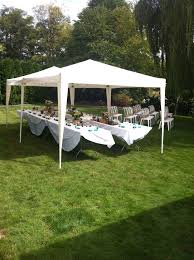 party tent rentals prices cozy backyard tent set up for small wedding pinteres gardening