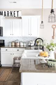 brick backsplash kitchen diy whitewashed faux brick backsplash bless er house
