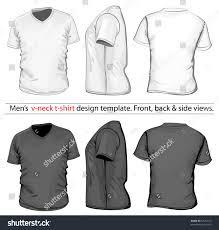 vector mens vneck tshirt design template stock vector 97632152