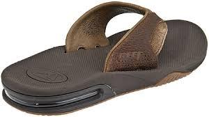 mens reef fanning flip flops sale reef sandals leather fanning flip flops brown brown various