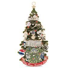 white house tree ornaments decor