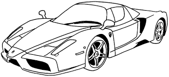 coloring coloring page car