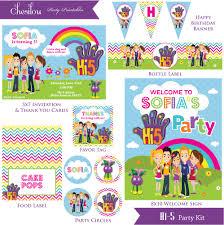 art birthday invitations customized hi 5 digital printable birthday invitation and