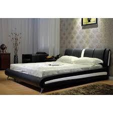 White Platform Bed Frame Two Tone Black White Platform Bed Free Shipping Today