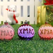 3 pcs santa beautiful glitter tree balls balls
