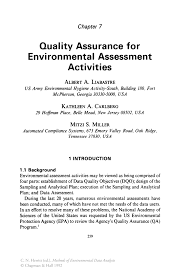 quality assurance for environmental assessment activities springer