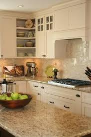 white kitchen design giallo ornamental granite countertops white