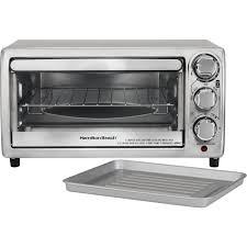Toaster Oven Set Hamilton Beach 4 Slice Toaster Oven Silver 31143 Best Buy