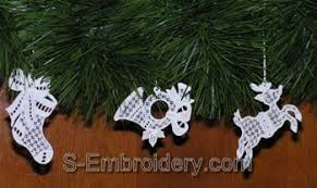 free standing lace ornaments sku 10318