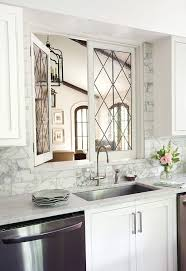 Leaded Glass Kitchen Pass Through Windows Transitional Kitchen - Leaded glass kitchen cabinets