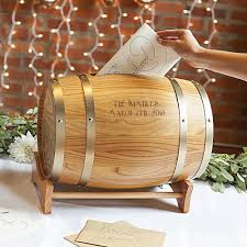 wedding gift card holder personalized wood wine barrel wedding gift cards holder