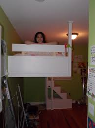 Suspended Loft Bed From Ceiling by Custom 2 Blokes Construction Llc