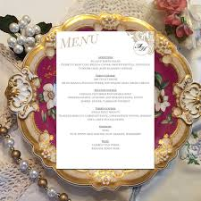 printable monogram diy wedding menu template by dcalligraphy
