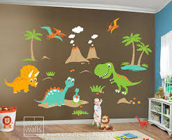 Children Wall Decals Dino Land Dinosaurs Wall Decal Wall Sticker - Dinosaur kids room