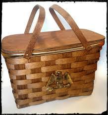 Best Picnic Basket Vintage Basketville Picnic Basket Bicentennial Celebration Wood