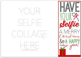 diy printable u0027selfie u0027 christmas card template freebies