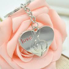 love key rings images New 2018 fashion lovers gift keychain couple love heart musical jpg