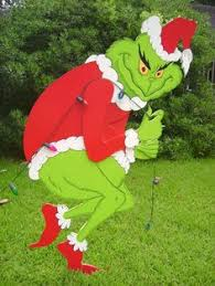grinch stealing lights yard easy outdoor