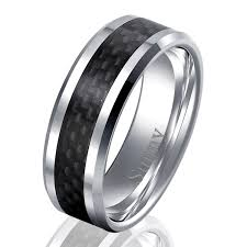 mens rings images Coolman black carbon fiber inlaied men 39 s rings tungsten carbide jpg