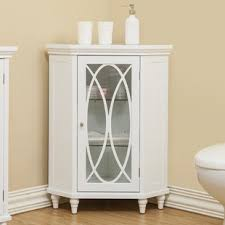 White Corner Bathroom Cabinet Corner Bathroom Cabinets Shelving You Ll Wayfair