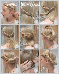 tuck in hairstyles gibson hair tuck coiff pinterest updos hair style and mary