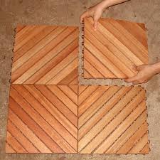 vifah roch 12 diagonal slat style hardwood deck tile a3458 182 5