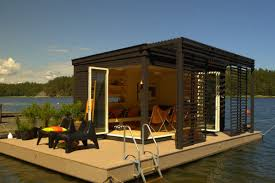 this floating prefab cabin is a solar powered dream escape curbed