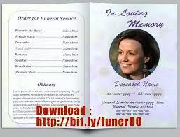 memorial service program free memorial templates funeral service template free editable