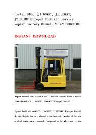 hyster d160 j1 60 xmt j1 80xmt j2 00xmt europe forklift service r u2026