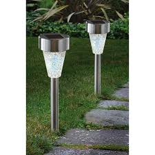 12 pk of westinghouse mosaic solar lights stainless steel