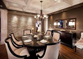 dark furniture sets dining room accent wallpaper rectangle green
