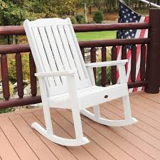 Wooden Rocking Chair Outdoor Highwood Lehigh Rocking Chair Synthetic Wood Rocking Furniture