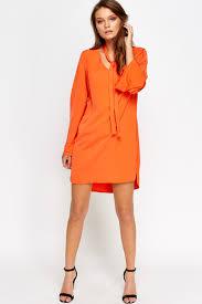 orange bell sleeve dress just 5
