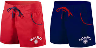 tyr female lifeguard boardshort guard short 2 colors red or navy