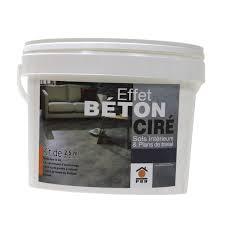 banc beton cire béton à effet ciré noir prb 2 5m leroy merlin