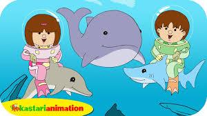film kartun ikan hiu kutahu dunia air lumba lumba hiu paus kastari animation