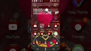 love themes video best love android theme 3d heart love youtube