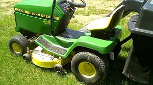 lot 1504a john deere lx178 lawn mower u0026 bagger youtube