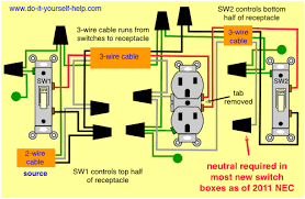 wiring diagram for two switches to control one receptacle wiring