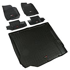 jeep black 2 door rugged ridge 12988 02 jeep wrangler floor cargo liner kit black 07 10