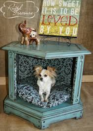 Repurposed Furniture Before And After by Diy End Table Dog Beds Before And After Refinished And