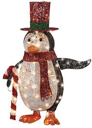 the aisle penguin with led lights decoration