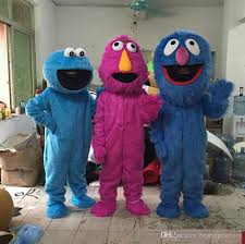 Grover Halloween Costume 2017 Sesame Street Mascot Costume Elmo Cookie Monster Grover