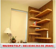 Walnut Bookshelves Jual Rak Dinding Jual Rak Tempel Dinding Jual Rak Dinding Unik