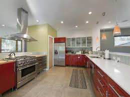 interior sparkling red and white interior decor with glossy