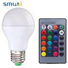 Spotlight Chandelier Smuxi Rgb Light Led Bulb E27 B22 5w 10w Color Changing Led Stage